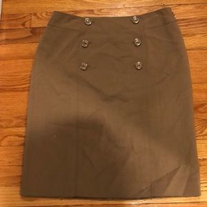 NWT ANN TAYLOR BEIGE PENCIL SKIRT